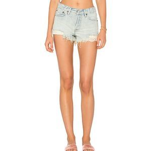 Free People Daisy Blue shorts